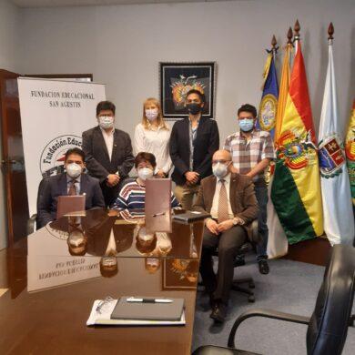 CONVENIO ENTRE LA UNIVERSIDAD CATÓLICA BOLIVIANA Y LA FUNDACIÓN EDUCACIONAL SAN AGUSTÍN-COLEGIO SAN AGUSTÍN